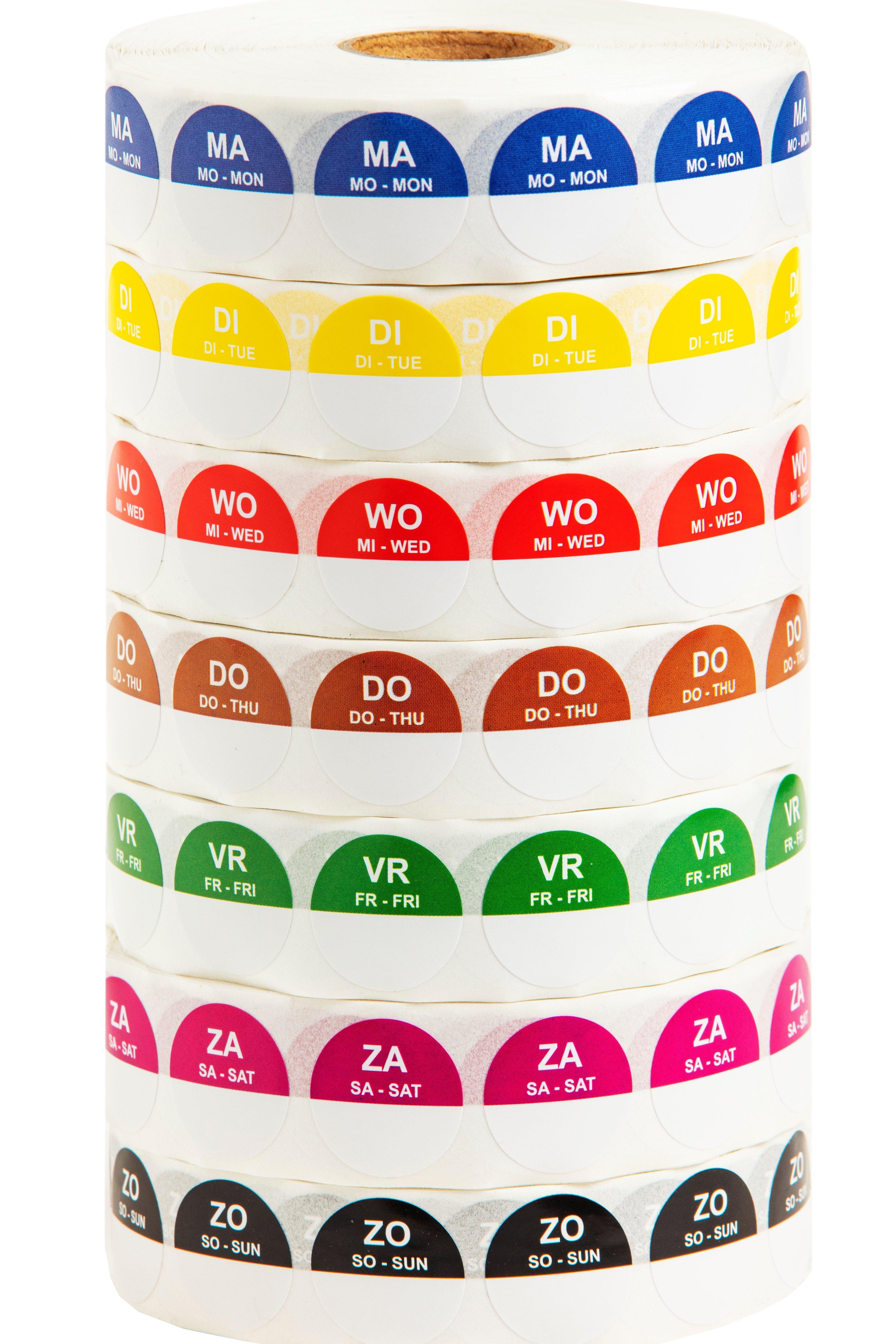 HACCP stickers voordeelpakket 7 dagen